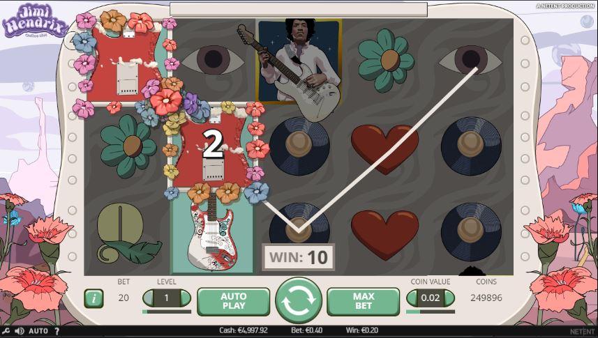 Slot Jimi Hendrix - jogada grátis vencedora